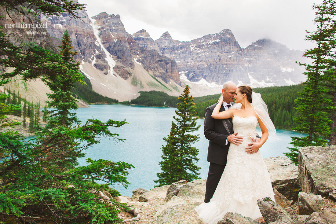 Banff Wedding Photographers, Moraine Lake After Wedding Photo Session, Prince George Photographer