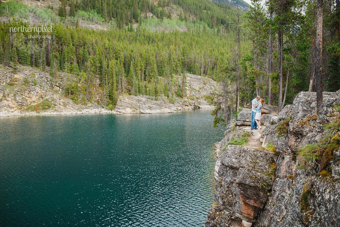 Horseshoe Lake Jasper Engagement Session