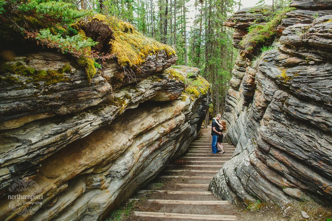 Athabasca Falls Jasper Engagement Session