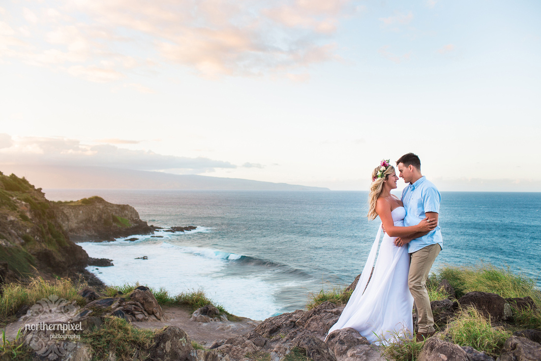 Maui Coastline After Wedding Photo Session