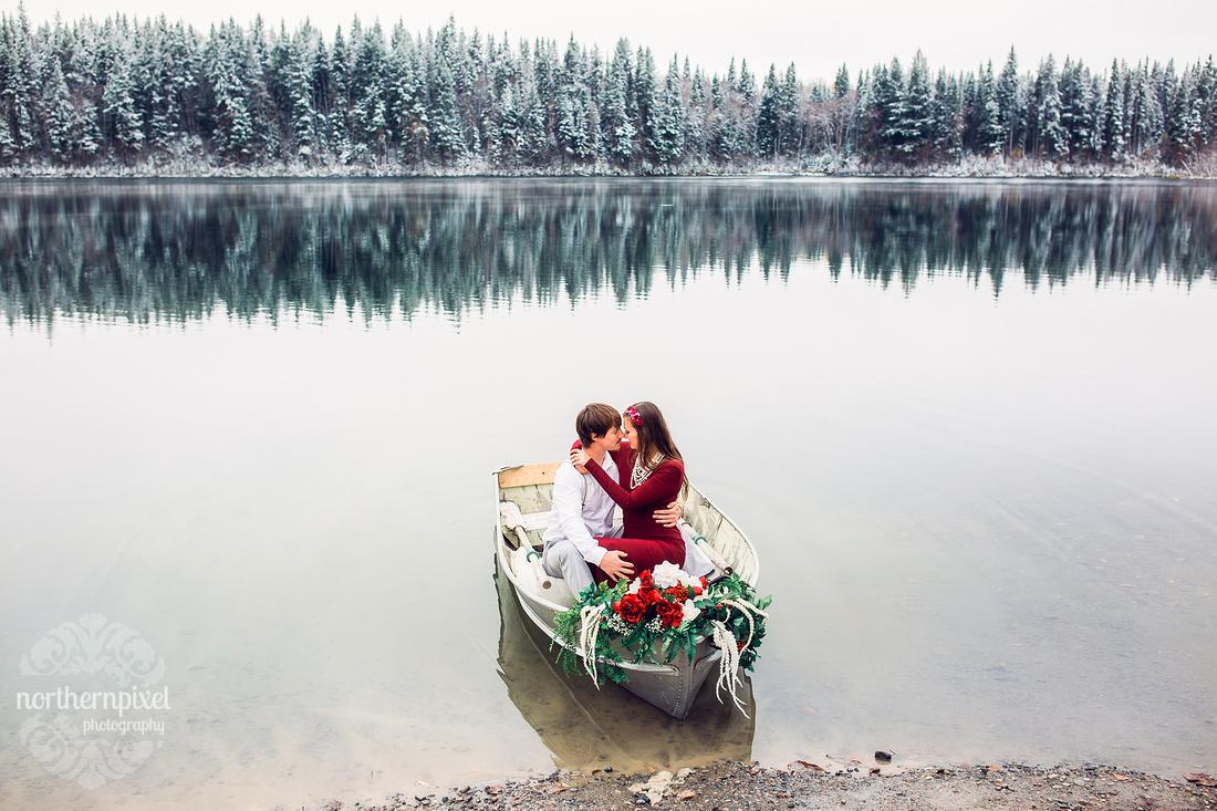 Prince George Wedding Photographers, Vanderhoof Engagement Session, Prince George Photographer, Rowboat engagement