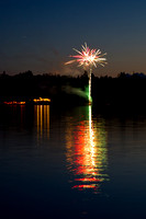 Ness Lake Wedding Fireworks