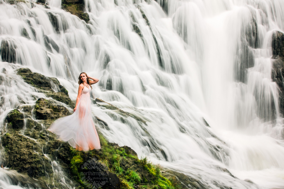 Waterfall Styled Portrait Session, Prince George BC Photographer