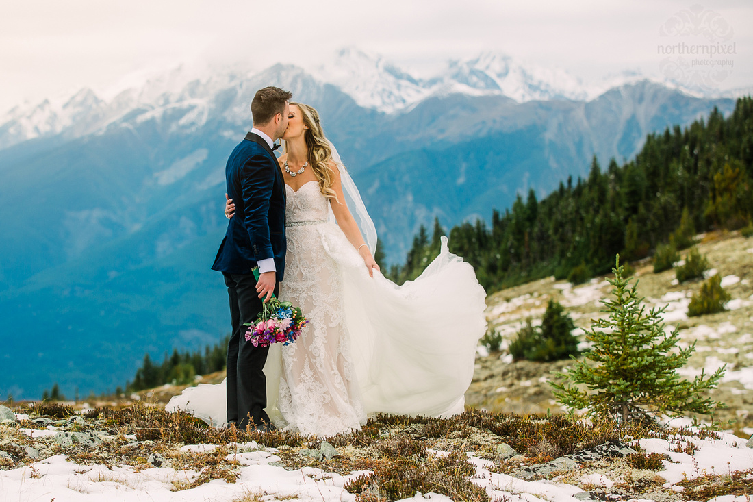 Jasper Helicopter Wedding Photos, Mount Terry Fox, Jasper Wedding Photographers, BC Wedding Photographers, Prince George Photographer