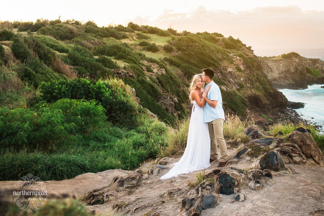 Maui Coastline After Wedding Session